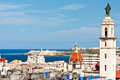 View of Havana with the bay on the background Royalty Free Stock Image