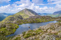 The view from haystacks in the lake distict cumbria england capturing both ennerdale and crummock waters district Stock Photo