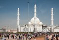 View of hazrat sultan mosque the square near the palace independence where many tourists and Stock Photography