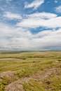 View from head smashed in buffalo jump landscape of the historic Royalty Free Stock Photography
