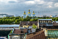 The view from the height of the Nikolsky Cathedral at sunset in Royalty Free Stock Photo