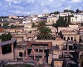 View of herculaneum italy overview the ruined roman city which was destroyed in ad by the eruption mount vesuvius near naples Royalty Free Stock Photo