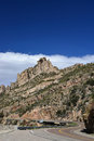 A view of the highway to mt lemmon in arizona road at an elevation over feet crosses rocky country with striking and unusual Royalty Free Stock Photography