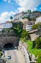 View hill tunnel district ribeira porto Stock Photo