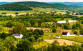 View of hills and farmland in virginia s piedmont seen from sky meadows state park Royalty Free Stock Images