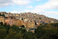View at hilltop city perugia umbria italy the capital of the region of in central is an enchanting with a compact historic center Stock Photography