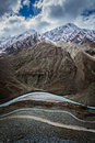 View of himalayas india spiti valley river road in himachal pradesh Royalty Free Stock Photography