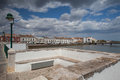 View from historic bridge in tavira portugal july city portugal Royalty Free Stock Images