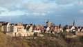 View of the historic German city of Rothenburg ob der Tauber in Royalty Free Stock Photo