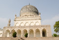 View of the historic tomb of hayat bakshi begum one of the qutb shahi tombs built in the th and th centuries in golcanda hyderabad Royalty Free Stock Photography