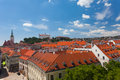View of the historical center of bratislava from hill slovakia Royalty Free Stock Photography