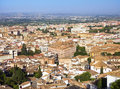 View of the historical center of valencia beautiful aerial to ald town Royalty Free Stock Photo