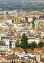 View of the historical center of valencia beautiful aerial to ald town Stock Images