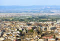 View of the historical center of valencia beautiful aerial to ald town Royalty Free Stock Photos