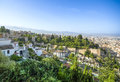 View of the historical city of granada spain beautiful old town Royalty Free Stock Photography
