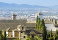 View of the historical city of granada spain beautiful old town Stock Photography