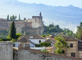 View of the historical city of granada spain beautiful old town Royalty Free Stock Image