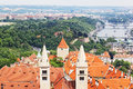 View of the historical districts of Prague Royalty Free Stock Photo
