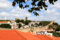 View of the historical fortress Obidos, Portugal Royalty Free Stock Photography
