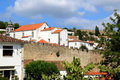 View of historical fortress Obidos, Portugal Stock Photography