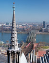 View on Hohenzollern Bridge in Cologne, Germany Royalty Free Stock Photo