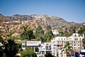 View of Hollywood sign in Los Angeles Stock Photo