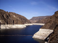 View of hoover dam nevada the resevoir at usa Royalty Free Stock Image