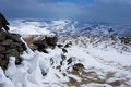 View on hope valley january snow in near edale Royalty Free Stock Photography