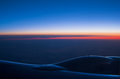View horizon sunrise air plane Stock Image