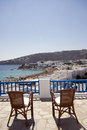 View hotel suite greek island Stock Image