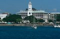 View of the House of Wonders along the seafront of Stone Town, Zanzibar Royalty Free Stock Photo