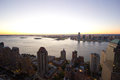 A view of the hudson river from top hotel Stock Photography