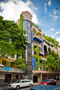 The view of Hundertwasser house Royalty Free Stock Image