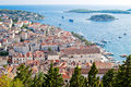 View of Hvar city, Royalty Free Stock Photo