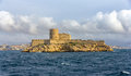 View of if castle in mediterranean sea france Royalty Free Stock Photo