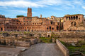 View of imperial forums rome in italy Stock Image