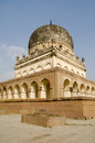 View of the imposing tomb of hayath bakshi begum one of the famous seven tombs or qutb shahi tombs built during the mughal empire Stock Photos