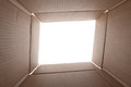 A view from inside a cardboard box Royalty Free Stock Photos