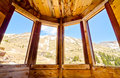 View From Inside a Preserved House in Animas Forks, a Ghost Town in the San Juan Mountains of Colorado Stock Photos