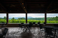 View #2 from Inside Winery Pavillion in Blue Ridge Mountains Royalty Free Stock Photo