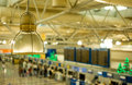 View of the international airport of Athens Stock Photos