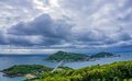 View of Iojima Island in Nagasaki, Japan. Royalty Free Stock Photo