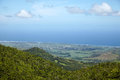 View of the island from the mountain le morn mauritius Royalty Free Stock Photography