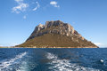 View of the island of Tavolara. Royalty Free Stock Photo