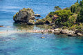 View of Isola Bella island and beach - Taormina, Sicily, Italy Royalty Free Stock Photo