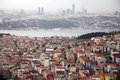 View of the istanbul a bad example urbanization in bosphorus Stock Photo