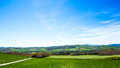 View of italian countryside a sunny summer morning in the Stock Images