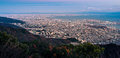 View of Japanese cities in the Kansai region from Mt. Maya. The view is designated a