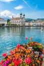 View at the Jesuit church of Luzern - Switzerland Royalty Free Stock Photo