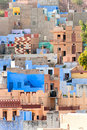 View of Jodhpur, the blue city. Stock Photos
